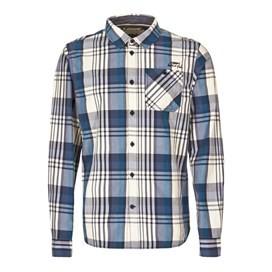 Turin Long Sleeve Check Shirt Dark Navy