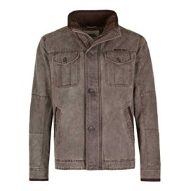 Prugger Full Zip Lined Harrington Jacket Shale