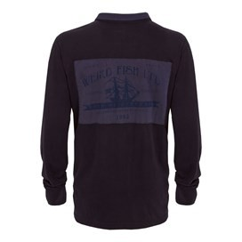Haulage Back Printed Rugby Top Rich Navy