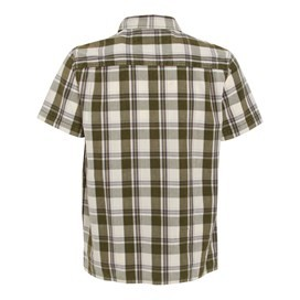 Fjord Short Sleeve Oxford Check Shirt Army Green
