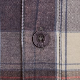 Fjord Short Sleeve Oxford Check Shirt Cadet Blue