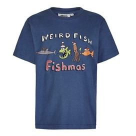 Fishmas Boy's Artist T-Shirt Ensign Blue