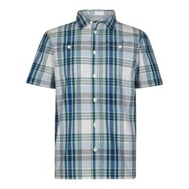 Farley Short Sleeve Check Shirt Forest Green