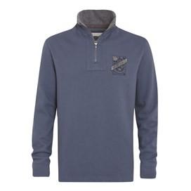Tabernas ¼ Zip Sweatshirt Cadet Blue