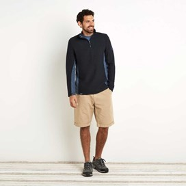 Siren 1/4 Zip Active Macaroni Sweatshirt Carbon