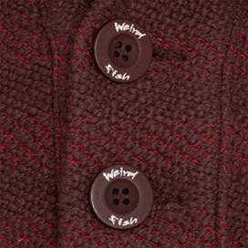 Paulo Button Neck Macaroni Sweatshirt Chilli Red