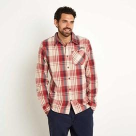 Turin Long Sleeve Check Shirt Ketchup Red
