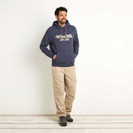 Rovern Graphic Applique Hoodie Dark Navy
