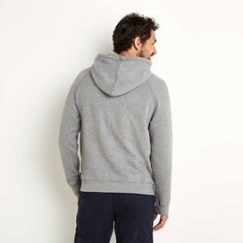 Rovern Graphic Applique Hoodie Grey Marl