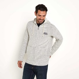 Beacon Full Zip Macaroni Hoody Ecru