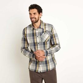 Turin Long Sleeve Check Shirt Evergreen