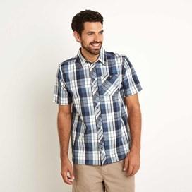 Wales Short Sleeve Check Shirt Dark Navy