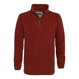 Totum ¼ Zip Soft Knit Fleece Chilli Red