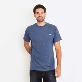 Bones Embroidered Logo Classic Plain T-Shirt Ensign Blue Marl
