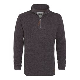 Totum ¼ Zip Soft Knit Fleece Flint Grey
