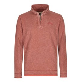 Meuli 1/4 Zip Pique Sweatshirt Ketchup Red