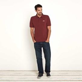 Saltash Rib Collar Pique Polo Shirt Oxblood Red