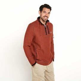 Parkway Deluxe Tech Macaroni Sweatshirt Chilli Red