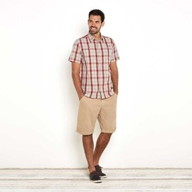 Farley Short Sleeve Check Shirt Jester Red