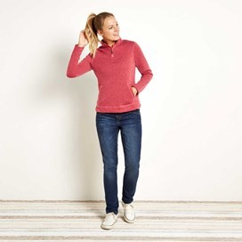 Bluebell 1/4 Zip Soft Knit Fleece Top Begonia Pink