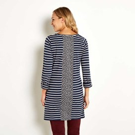 Dharma Striped Jersey Tunic Dark Navy