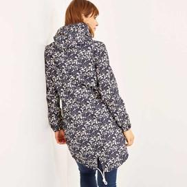 Manitou Printed Showerproof Parka Jacket Dark Navy