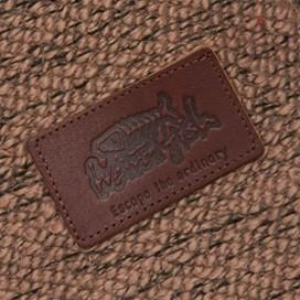 Tavistock ¼ Button Jarse Knit Hoody Mushroom