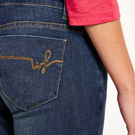 Vixen Denim Straight Leg Jean Faded Denim