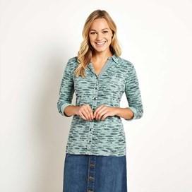 Agua Printed Jersey Shirt Seafoam