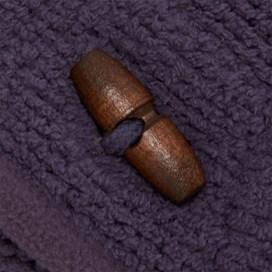 Lantern 1/4 Button Toasty Fur Hoody Rich Navy