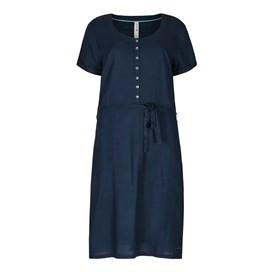 Aurelia Button Down Shift Dress Dark Navy