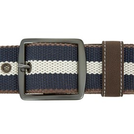 Grove Striped Fabric Webbing Belt Moonlight Blue