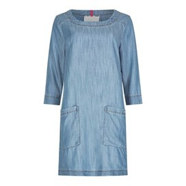 Shennoy Plain 3/4 Length Sleeve Tunic Blue Surf
