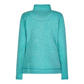 Bluebell Plain 1/4 Zip Soft Knit Fleece Sweatshirt Lagoon
