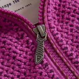 Geranium 1/4 Zip Classic Macaroni Sweatshirt Purple Orchid