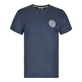 Heritage Surf Graphic Print T-Shirt Moonlight Blue Marl