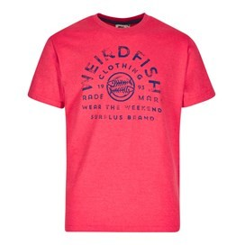 WF Surplus Graphic Print T-Shirt Barberry Red Marl