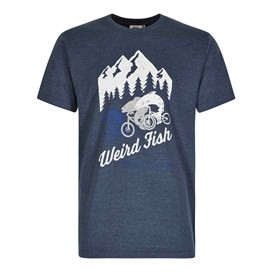 Downhill Racing Graphic Print T-Shirt Moonlight Blue Marl