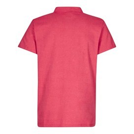 Andy Embroidered Logo Jersey Polo Shirt Barberry Red