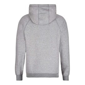 Avarice Applique Graphic Zip Through Hoodie Grey Marl