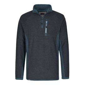 Misfire 1/4 Zip Windcheater Lined Macaroni Sweatshirt Moonlight Blue