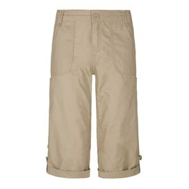 Savannah Cotton 3/4 Length Utility Trouser Taupe Grey
