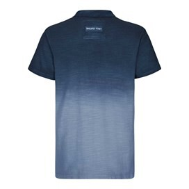 Benator Dip Dyed Pique Polo Shirt Moonlight Blue