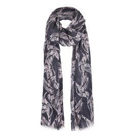 Alverton All Over Print Scarf Navy