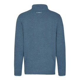 Bryn 1/4 Zip Birdseye Sweatshirt Washed Blue