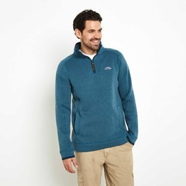 Ashyyk 1/4 Zip Technical Soft Knit Top Dark Jade