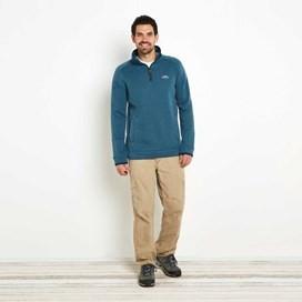 Ashyyk 1/4 Zip Technical Soft Knit Top Dark Jade