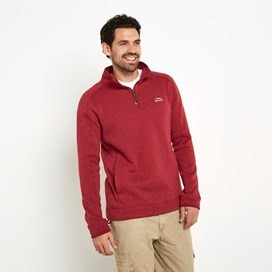 Ashyyk 1/4 Zip Technical Soft Knit Top Barberry Red