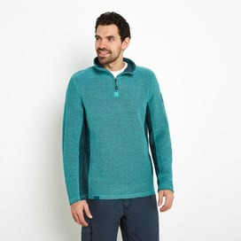 Siren 1/4 Zip Mac Active Macaroni Sweatshirt Light Teal
