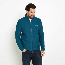 Sickle Full Zip Macaroni Sweatshirt Dark Jade